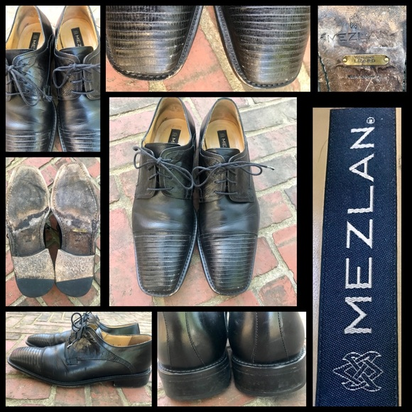 7a1bfaefd Mezlan Shoes | Cap Toe Lizard Lace Up Oxfords Sz 10 | Poshmark